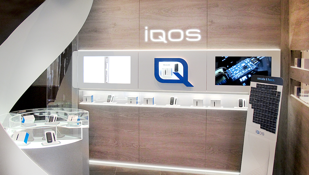 Iqos store milano we solve design for Shop milano